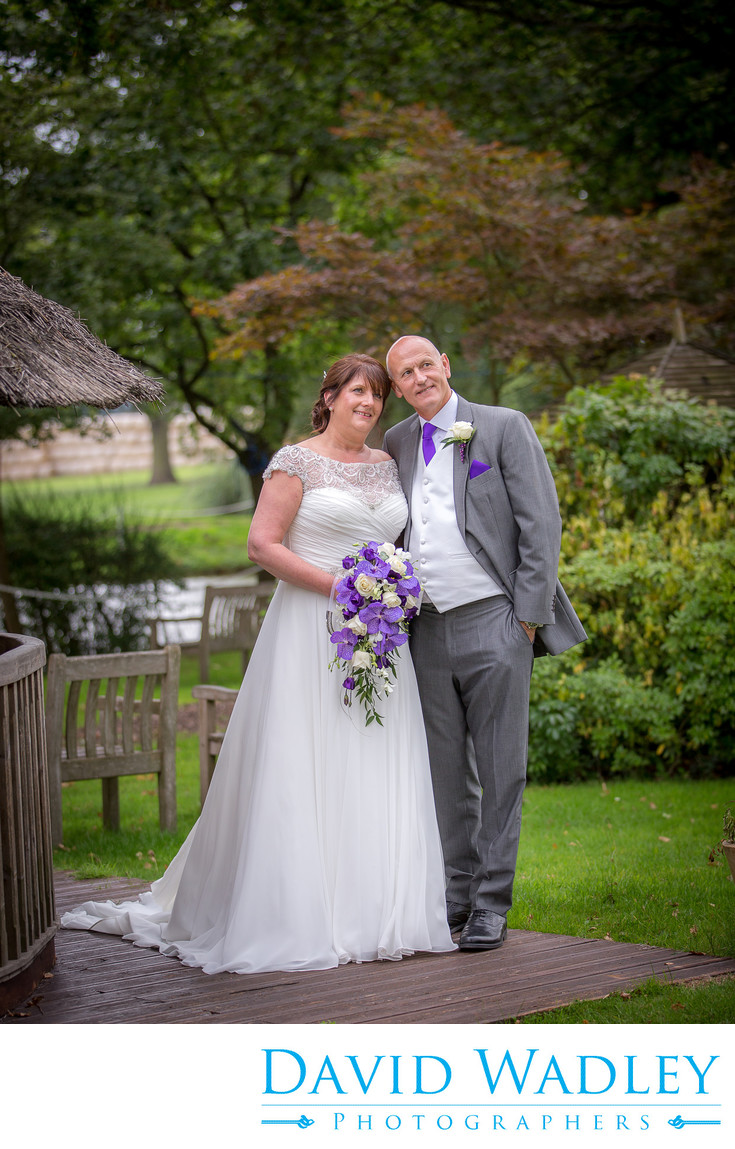 Bride & groom together at Nailcote Hall.