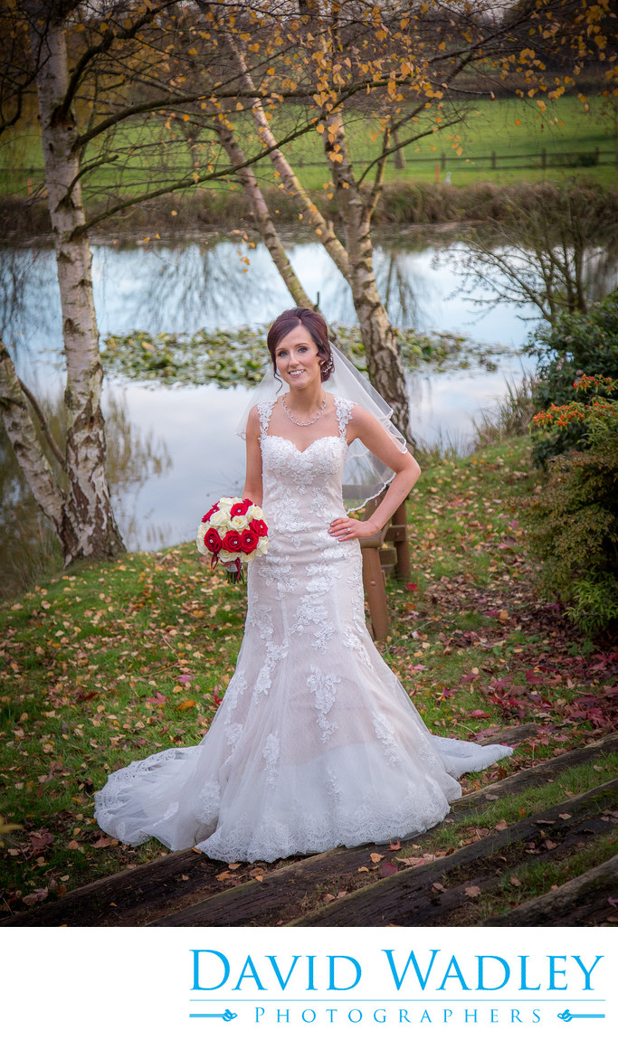 Bride in ground at Nailcote Hall Hotel