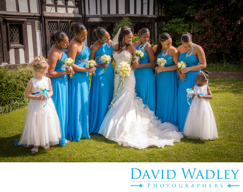 Bride & Bridesmaid together at Nailcote Hall.