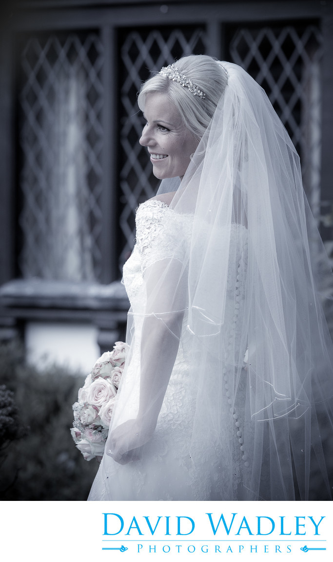 Bride on her Wedding day at Nailcote Hall.
