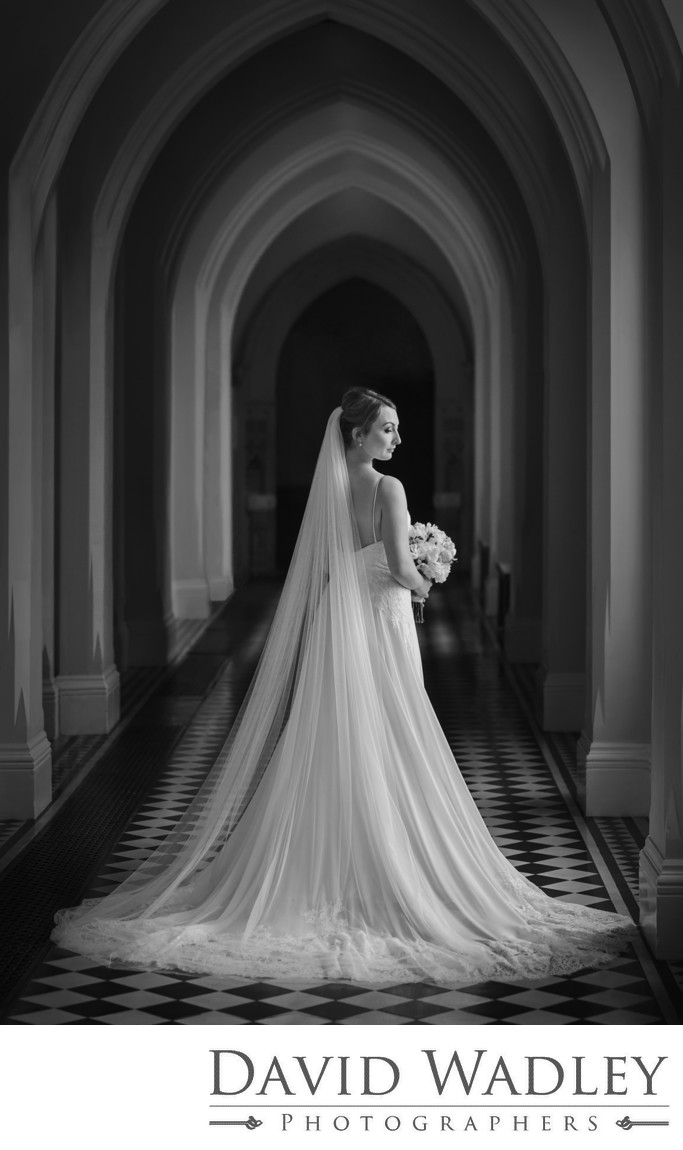 Bride at Stanford Hall Hotel