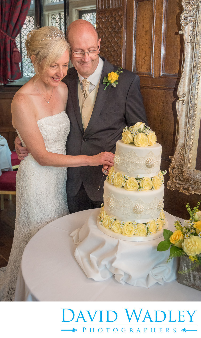 Wedding cake at New Hall Hotel in Sutton Coldfield.