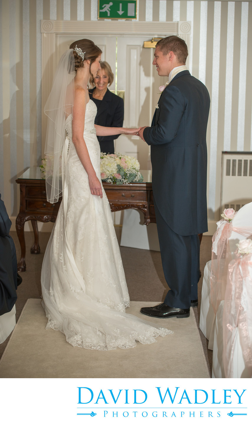 Civil ceremony at Warwick House.