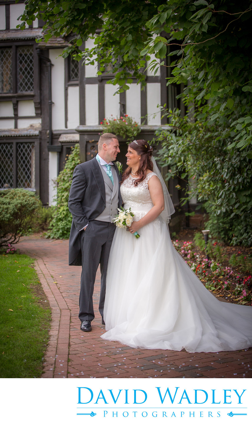 Bride & Groom captured at Nailcote Hall