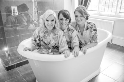 Wedding day in the bath at the special Moxhull Hall Hotel