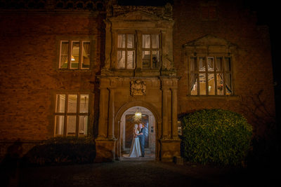 Wedding kiss for the couple at Grafton Manor Hotel.