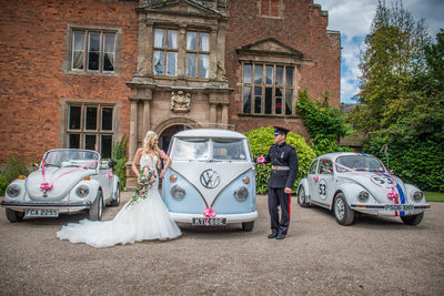Grafton Manor with VW Campvan & Beetles