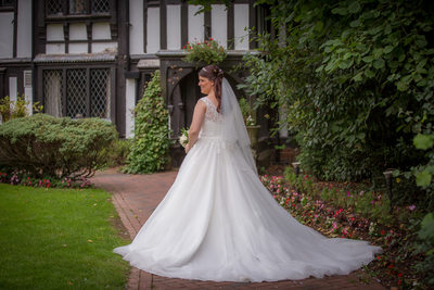 Bride photographed at Nailcote Hall