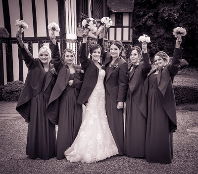 Bride & the girls at Nailcote Hall