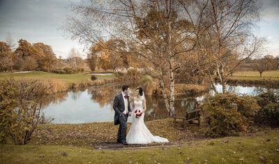 Lakeside on their wedding day at Nailcote Hall