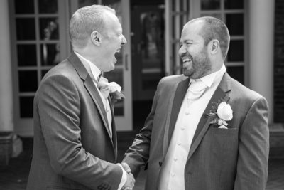 Groom & Bestman at Nailcote Hall.
