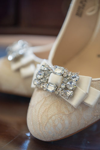 Bride shoes detail.