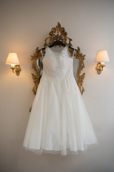 Wedding dress photographed at New Hall Hotel Sutton Coldfield.