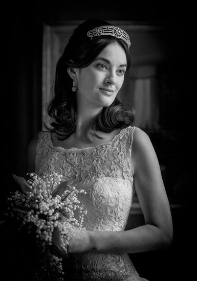 Bride on wedding in Black & White.