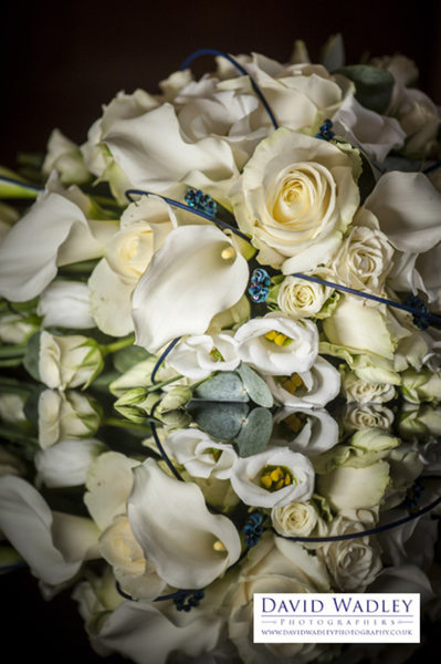 Bride's flowers for her wedding day.