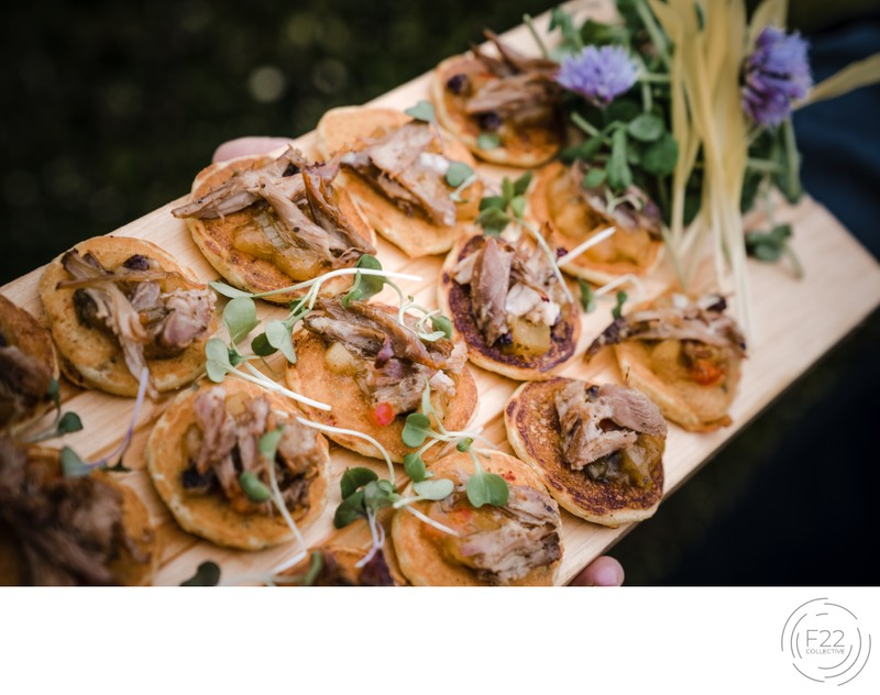 Sacramento Wedding Photographers Reception Appetizers