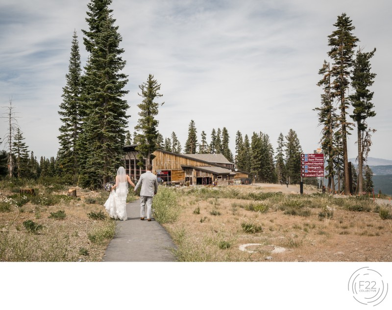 Lake Tahoe Wedding Photographer: Wedding Couple Walking