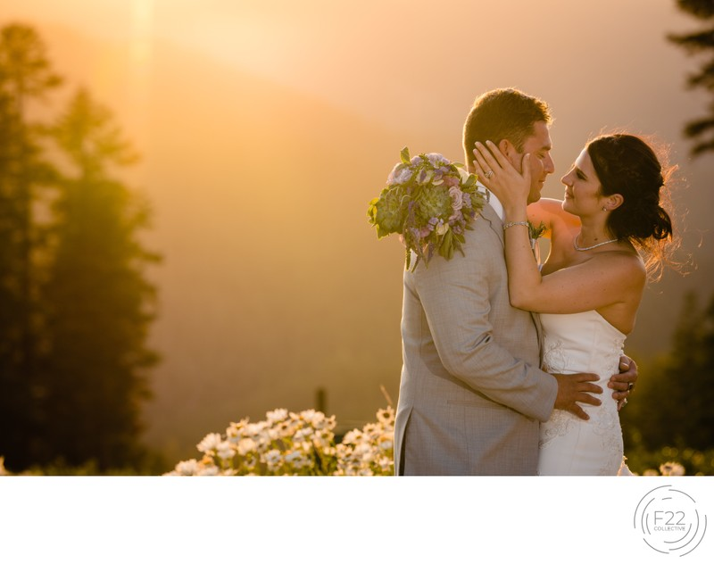 Lake Tahoe Wedding Photographers: Sunset Couple Photo