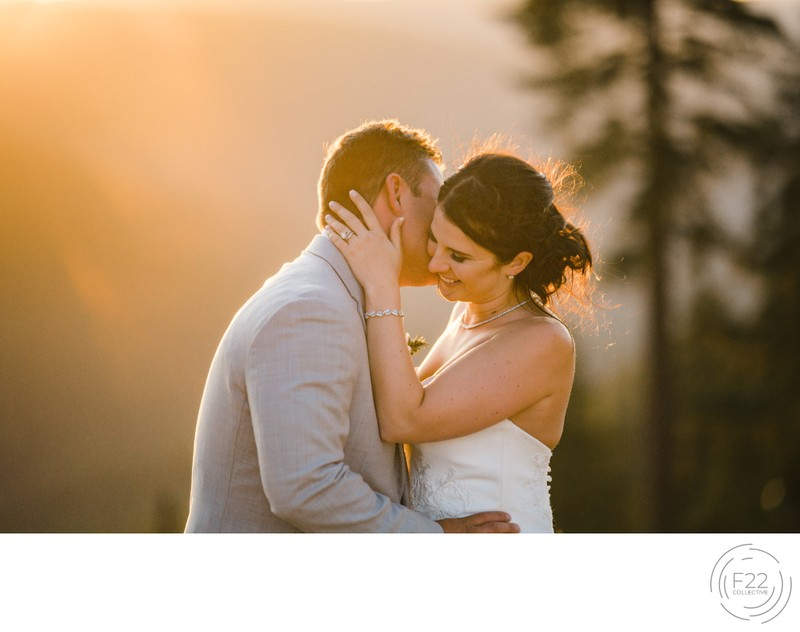 Lake Tahoe Wedding Photograph: Intimate Sunset Romantic