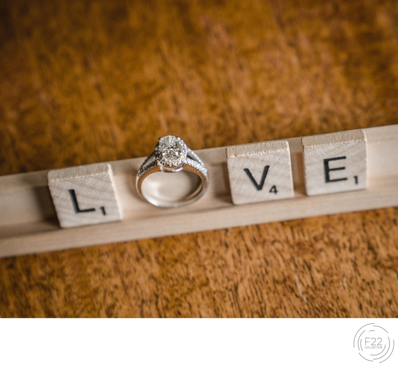 Lake Tahoe Wedding Photography: Scrabble Wedding Rings
