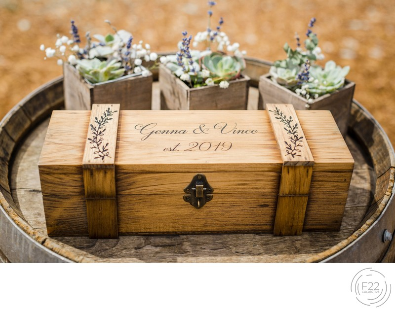 Lake Tahoe Wedding Photography: Wine Ceremony Box