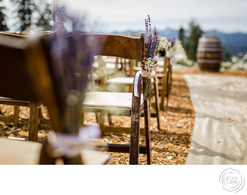 Lake Tahoe Wedding Photography: Ceremony Chairs