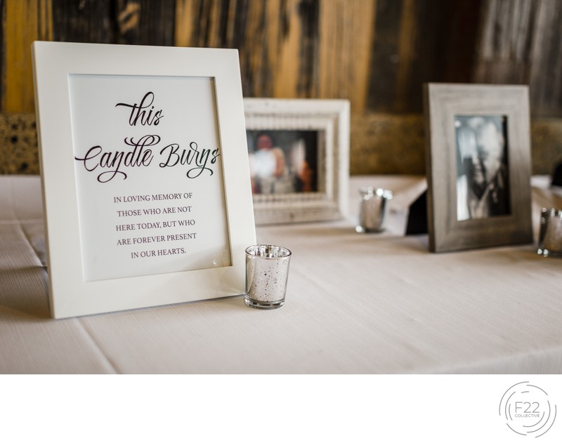 Lake Tahoe Wedding Photography: Remembrance Table