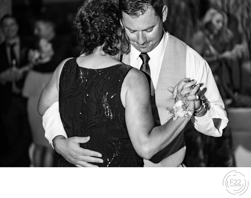 Top Zephyr Lodge Wedding Photographer: Mom Groom Dance