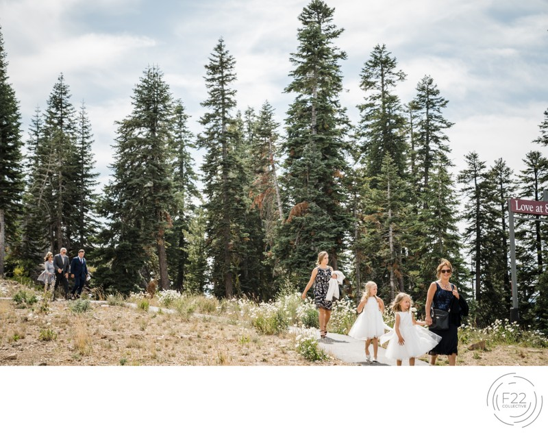 Top Zephyr Lodge Wedding Photographer: Walk to Ceremony
