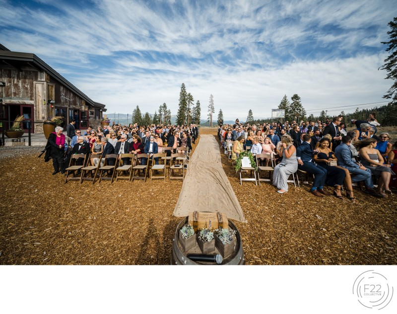 Top Zephyr Lodge Wedding Photography: Ceremony Aisle