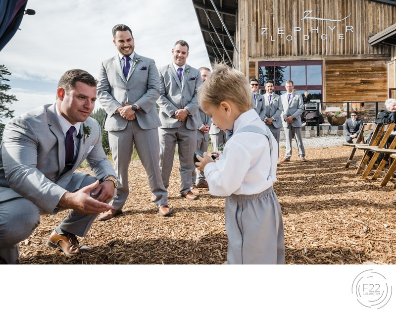 Top Zephyr Lodge Wedding Photographer: Ring Bearer