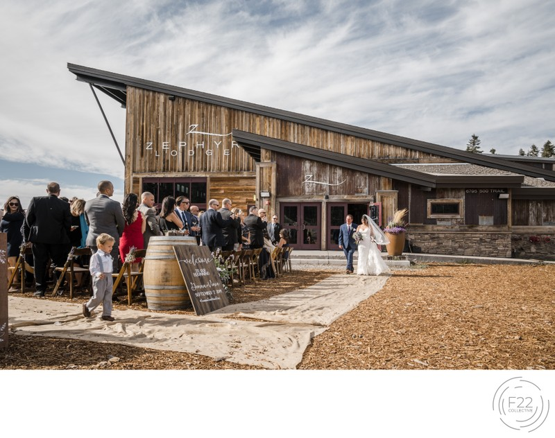 Top Zephyr Lodge Wedding Photographers: Ceremony Aisle