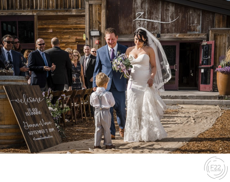 Top Zephyr Lodge Wedding Photographer: Ceremony Aisle