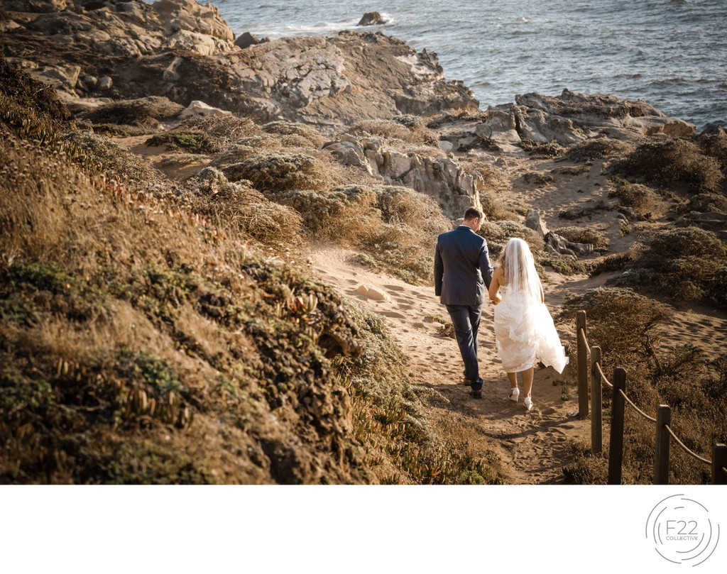 Best Wedding Photographers Sacramento Beach Cliffs