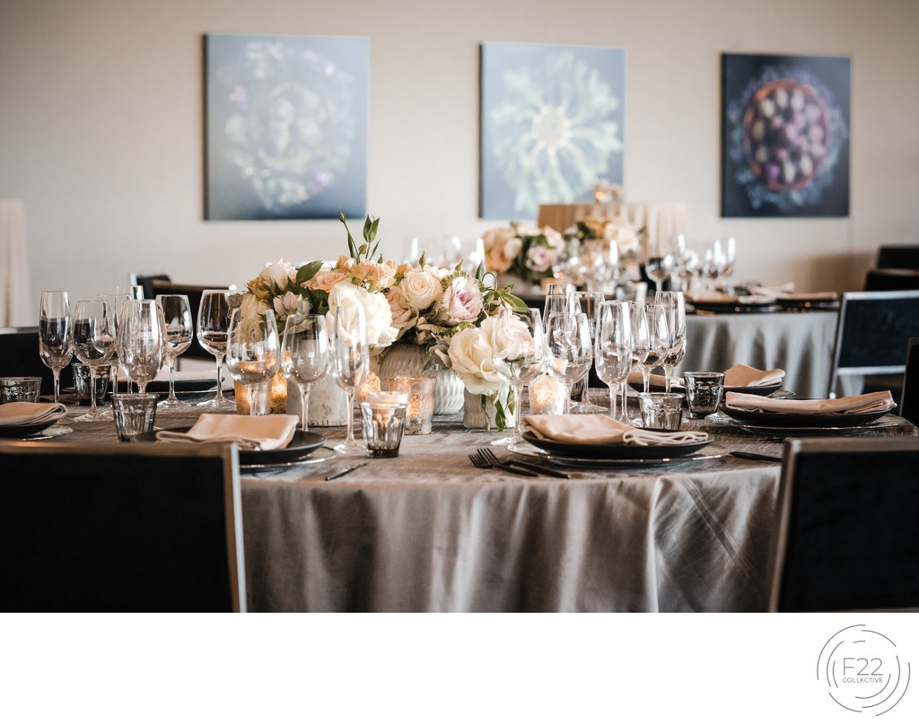 Sacramento Wedding Photographer Reception Table Decor