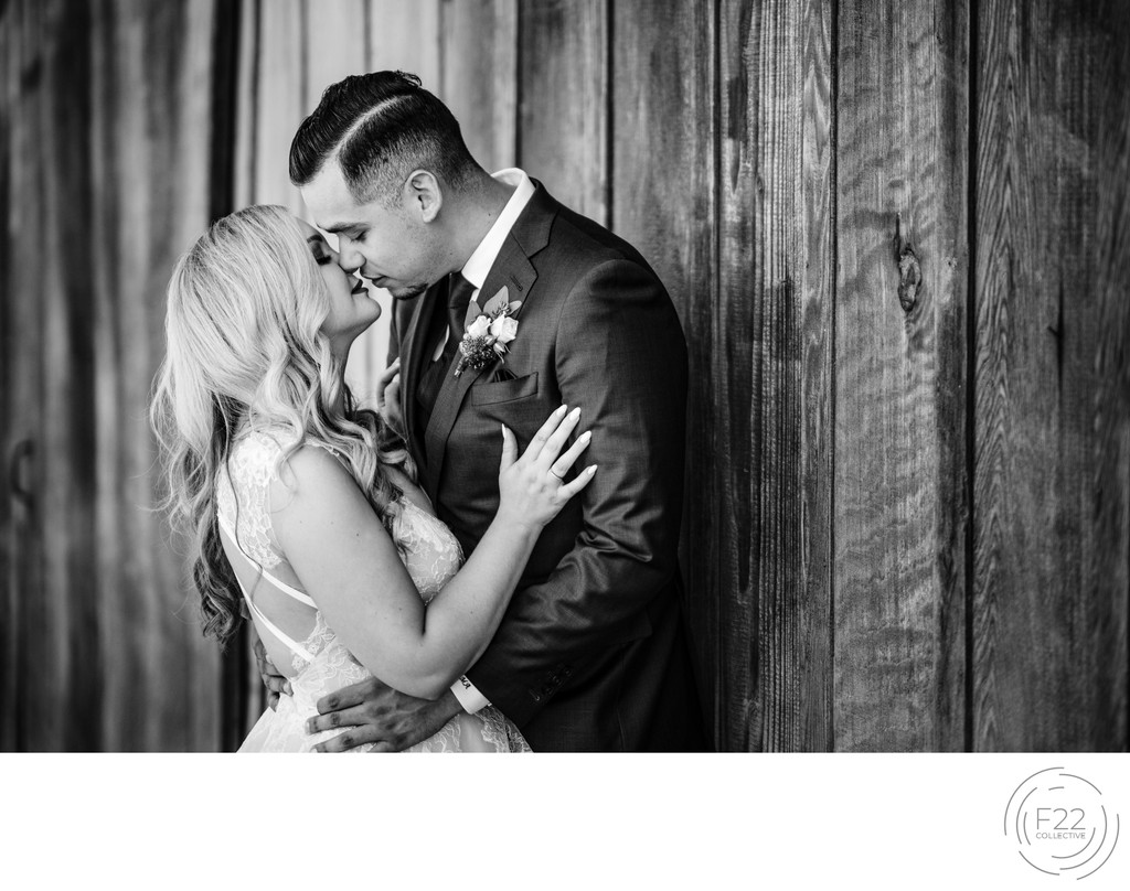 Best Wedding Photographers Sacramento Intimate Kiss