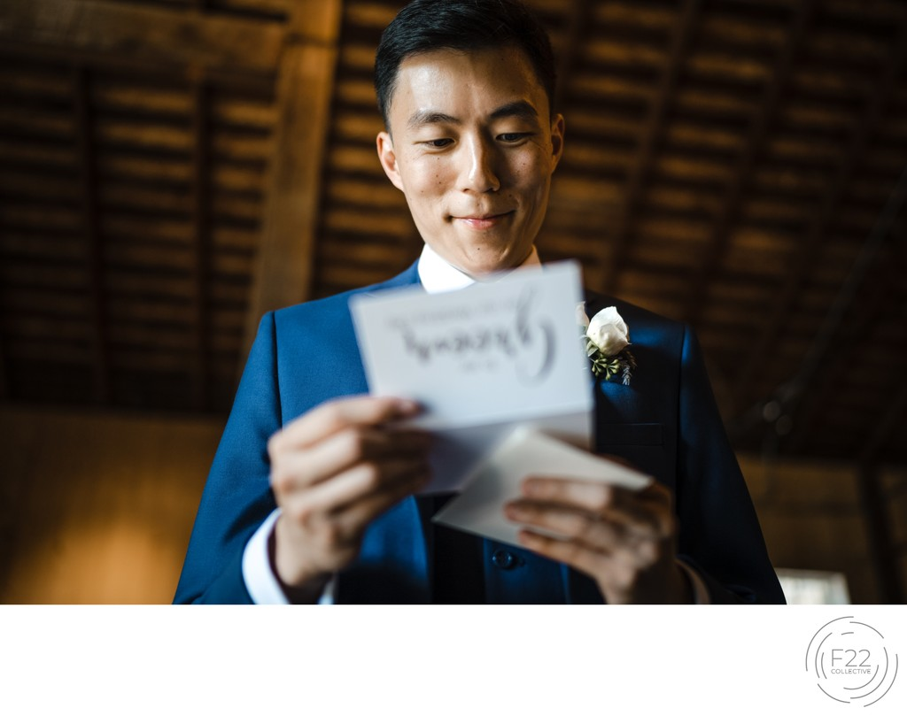Groom Card Best Wedding Photographers Sacramento