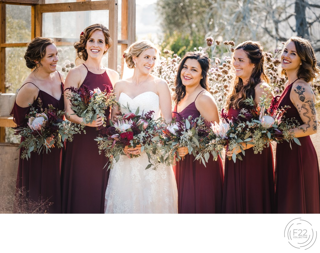 Bridal Party Wedding Photographers Sacramento
