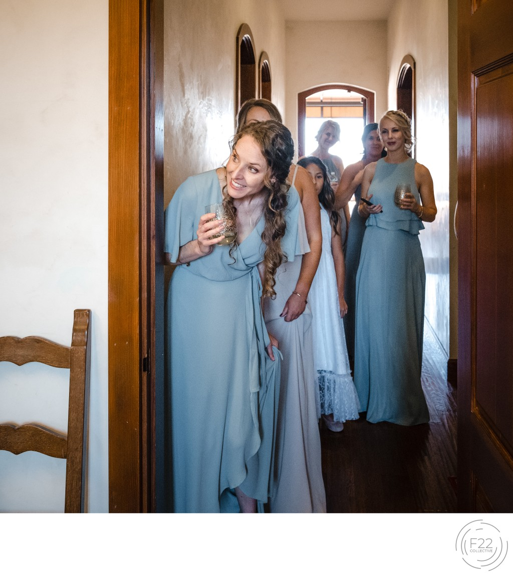 Peek Around Corner Best Wedding Photography Sacramento
