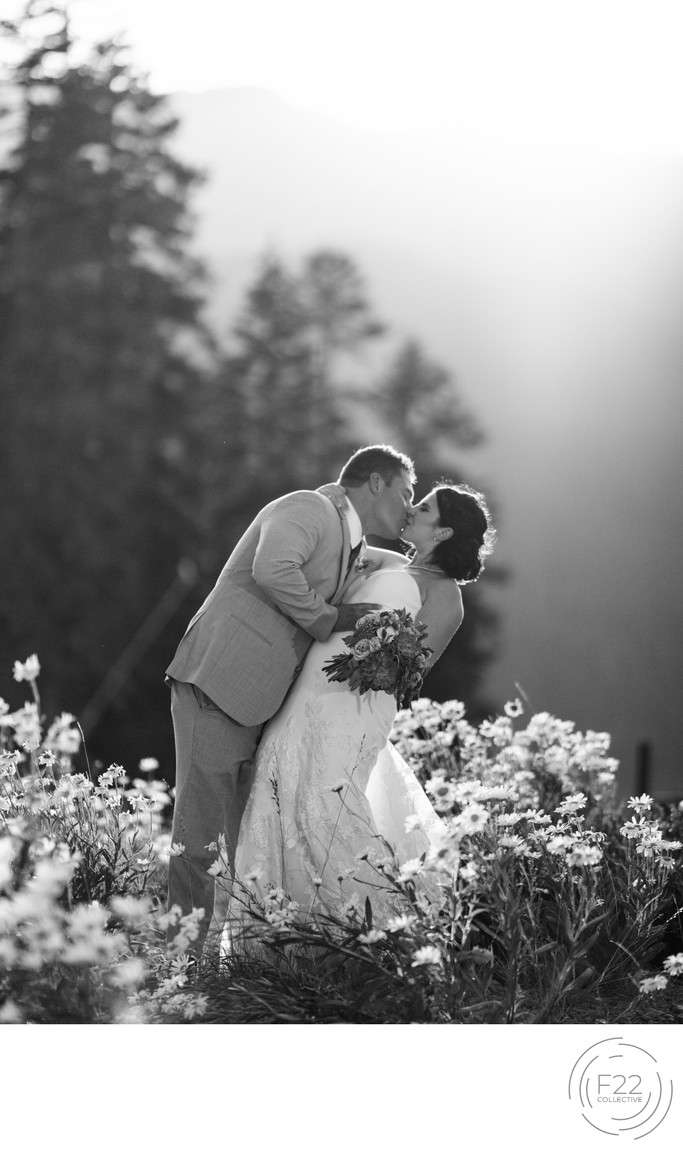 Lake Tahoe Wedding Photograph: Intimate Sunset