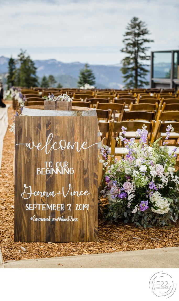 Top Zephyr Lodge Wedding Photographer: Welcome Sign