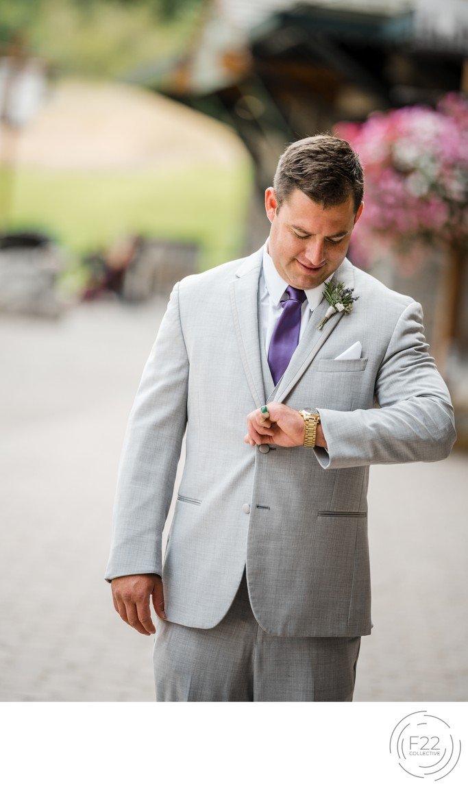 Top Zephyr Lodge Wedding Photography: First Look Groom