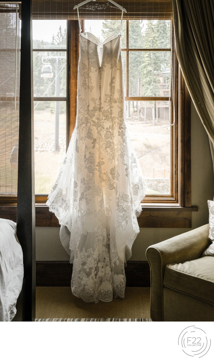 Zephyr Lodge Wedding Photographer: Wedding Dress