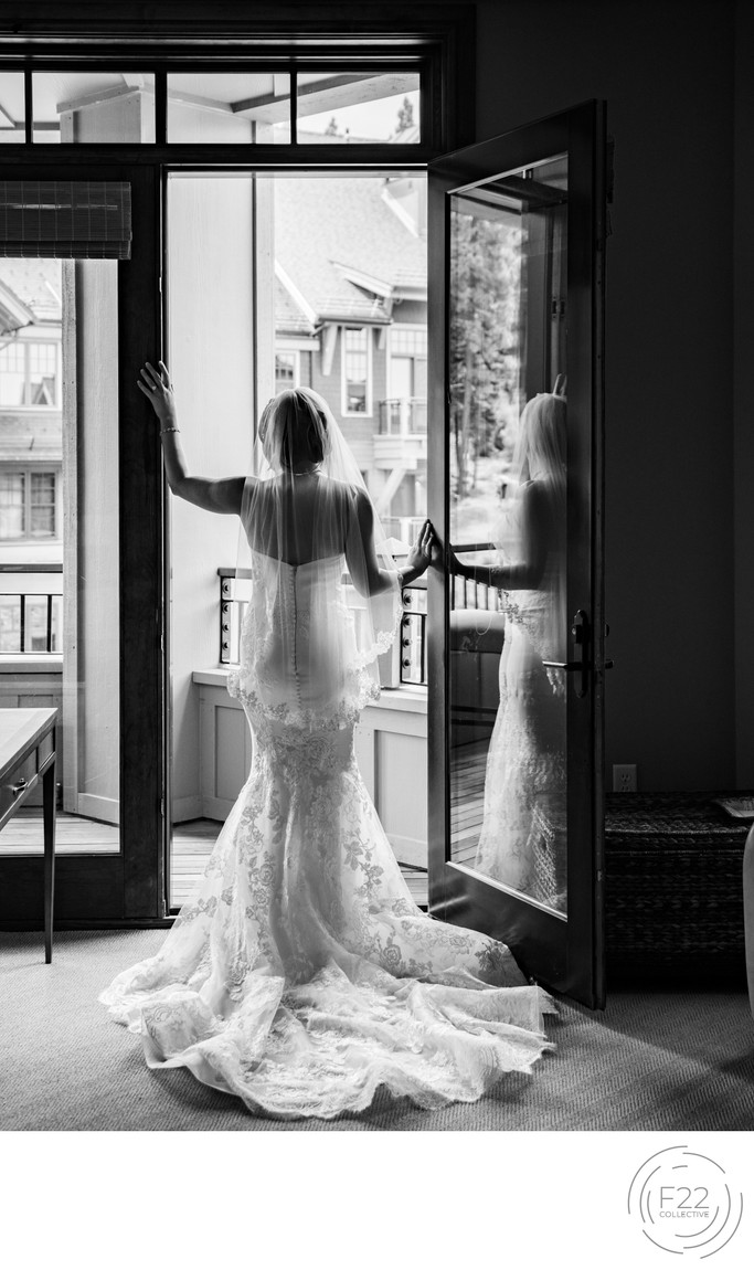 Lake Tahoe Wedding Photograph: Bride Photo Pre-ceremony