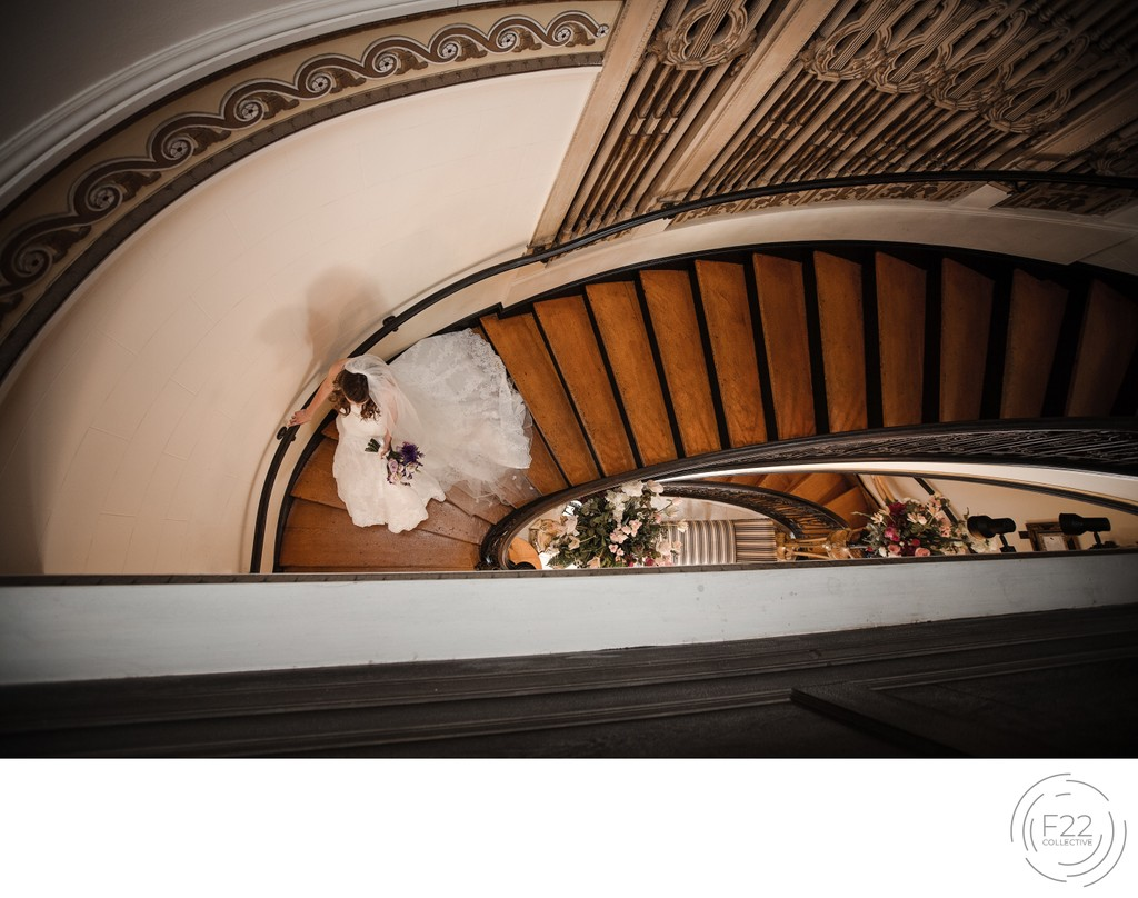 Grand Island Mansion Staircase