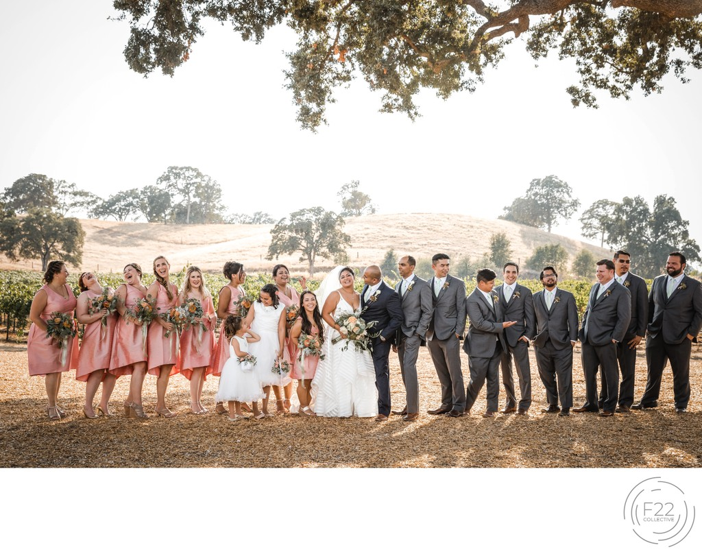 Rancho Victoria Vineyard Wedding Party