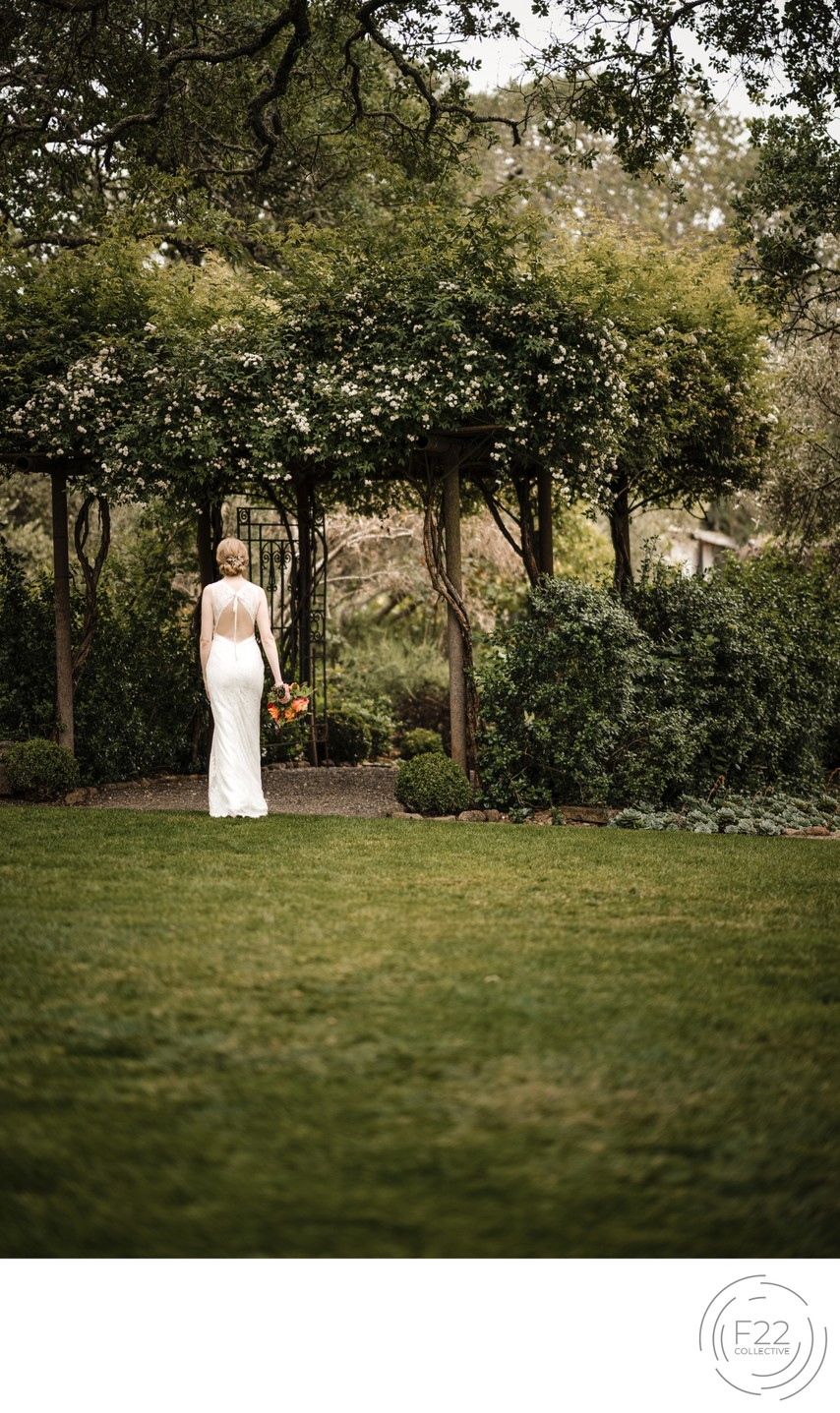 Best Wedding Photographers Sacramento Bride at Gate