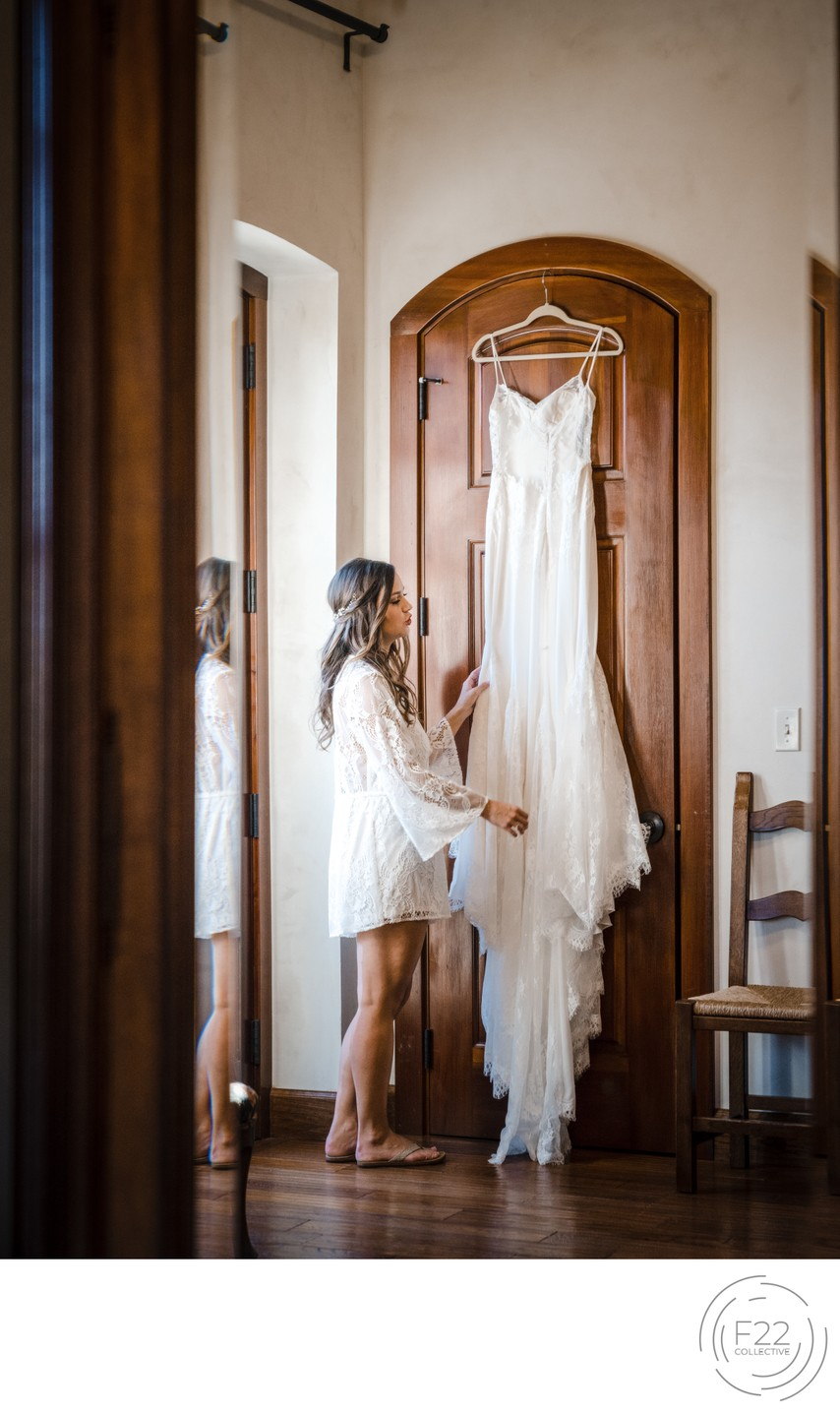 Best Wedding Photographers Sacramento Dress in Mirror