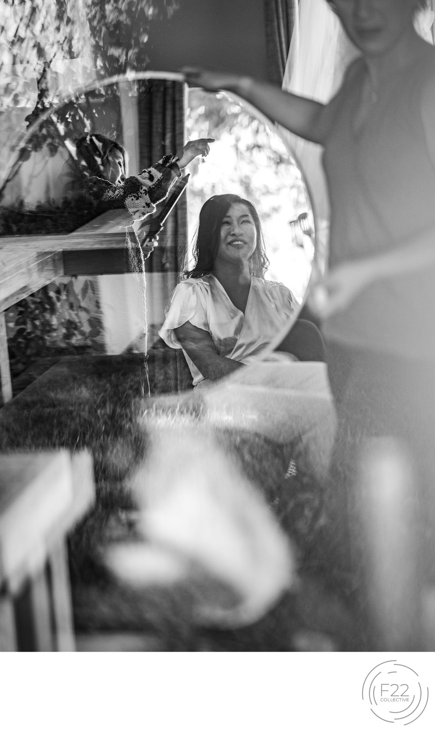 Bride in Mirror Best Wedding Photographers Sacramento