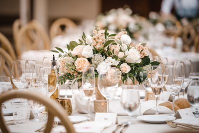 Sacramento Wedding Photographers Reception Tables